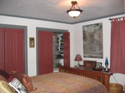 Master bedroom, before and after (click to enlarge)