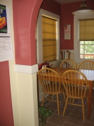 The kitchen nook, before and after (click to enlarge)