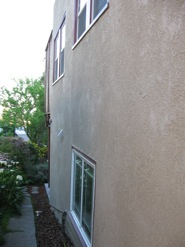 East side of house, before and after (click to enlarge)